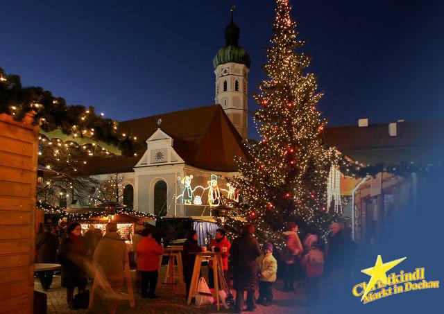 Dachau Weihnachtsmarkt.Christmada Christkindlmarkt Dachau